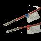Pereche termorezistente sertizate PT 1000, lungime de imersie: 85 mm, Dia 5,2 mm, lungime cablu 2 ml