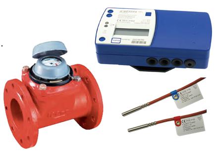 Contor energie termica HYDROSPLIT cu traductor mecanic WDEK30-R DN 50, Qn= 15 mc/h, Tmax. 90 grd. C, MID, racord cu flanse