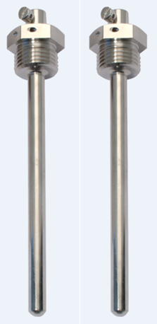 Pereche teci alama pentru termorezistente, Lungime imersie 85 mm